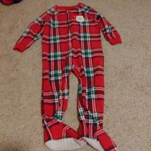 24 months Christmas footed pajamas